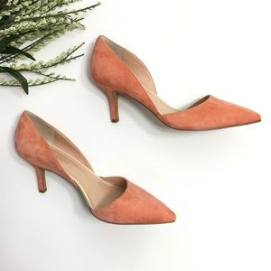 Sole Society | Coral Suede Pointed Toe Heels